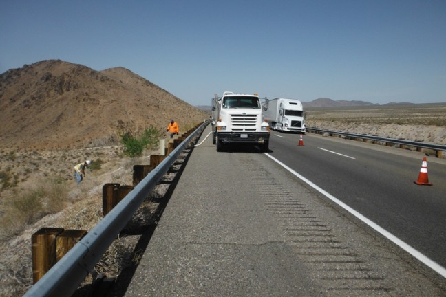 Caltrans South I40 water haul